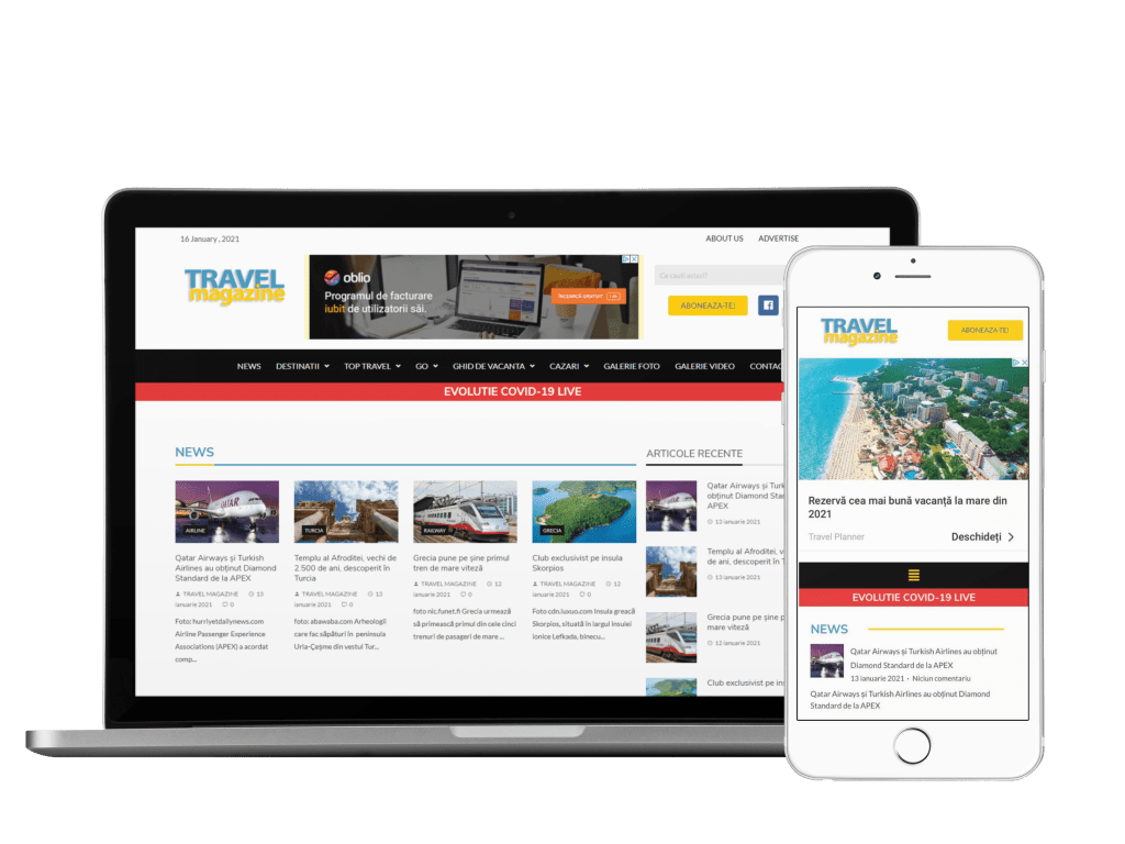 travelmagazine website